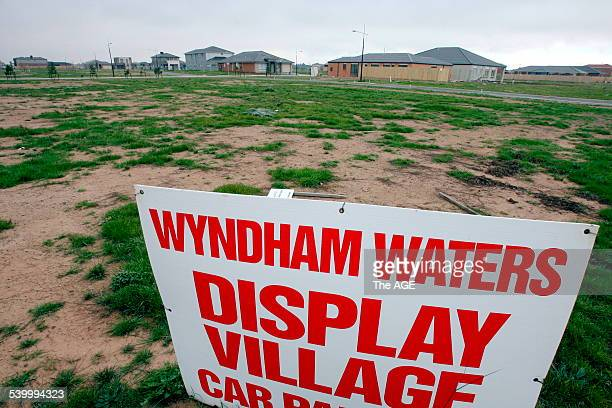 Henry Kaye's investment at Wyndham Waters housing estate 25 July 2006 THE AGE NEWS Picture by ANDREW DE LA RUE