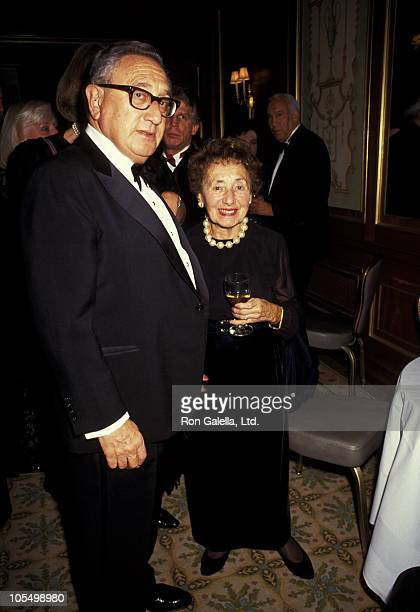 Henry Kissinger and Mother during Top Dog Gala to Benefit the Animal Medical Center at Pierre Hotel in New York City New York United States