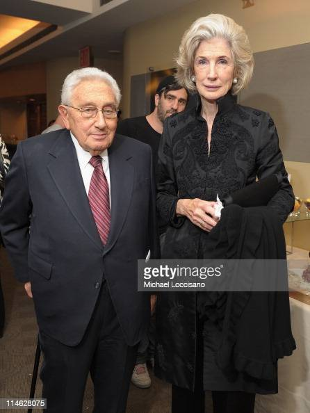 Henry Kissinger and wife Nancy Maginnes attend the HBO Documentary ...