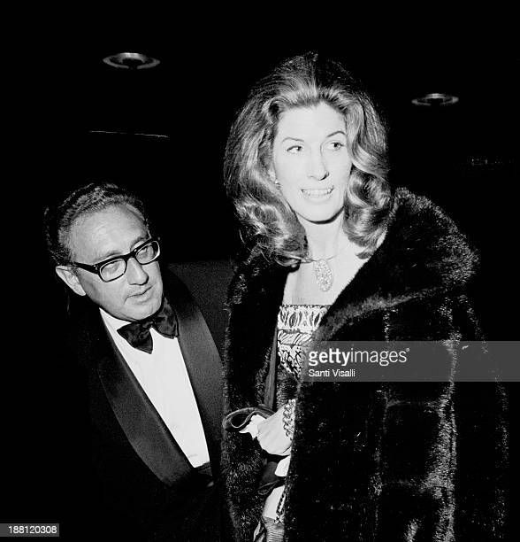Henry Kissinger and wife Nancy on March 3 1972 in New York New York