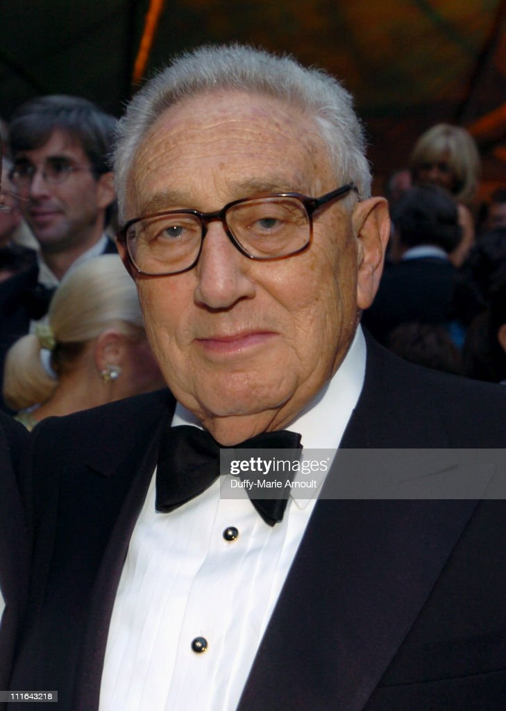 Henry Kissinger during The 37th Annual Party in the Garden - Honoring David Rockefeller's 90th Birthday at The Abbey Aldrich Rockefeller Sculpture Garden at the MOMA in New York City, New York, United States.