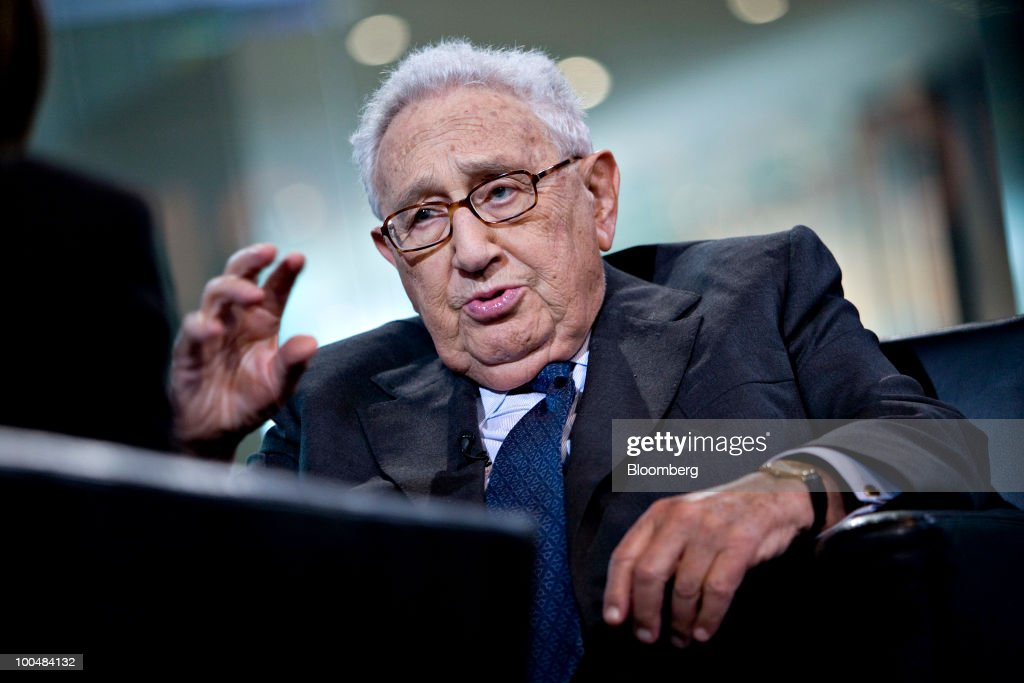 Henry Kissinger, former U.S. secretary of state, speaks during an interview in New York, U.S., on Monday, May 24, 2010. Kissinger, 83, was secretary of state from 1973-1977 under presidents Richard Nixon and Gerald Ford. Photographer: Daniel Acker/Bloomberg via Getty Images