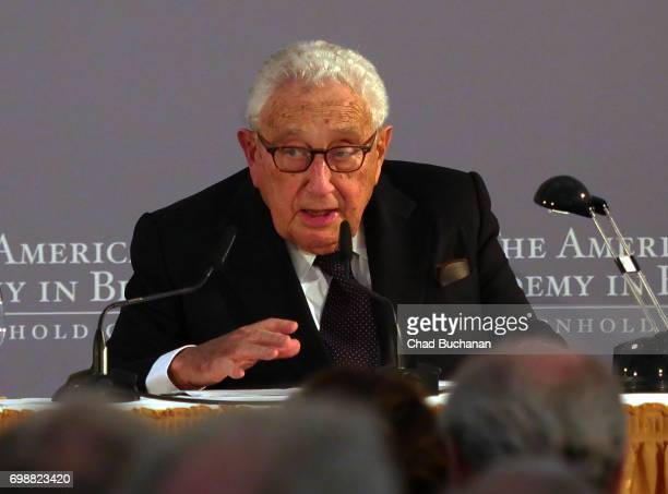 Henry Kissinger seen during the 2017 Henry A Kissinger Prize at the American Academy in Berlin on June 20 2017 in Berlin Germany