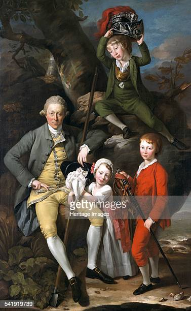 Henry Knight of Tythegston with his children' 1770 Artist Johan Zoffany