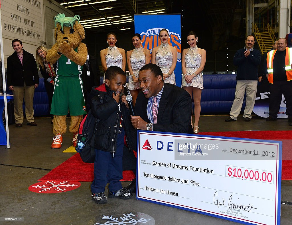 Henry Kuykendall (R) attends the 3rd Annual Garden of Dreams Foundation & Delta Air Lines' 'Holiday in the Hangar' event at John F. Kennedy International Airport on December 11, 2012 in New York City.