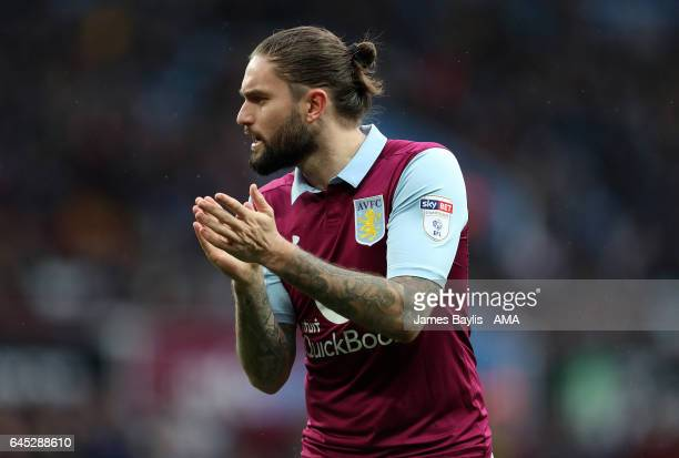 Henry Lansbury of Aston Villa during the Sky Bet Championship match between Aston Villa and Derby County at Villa Park on February 25 2017 in...