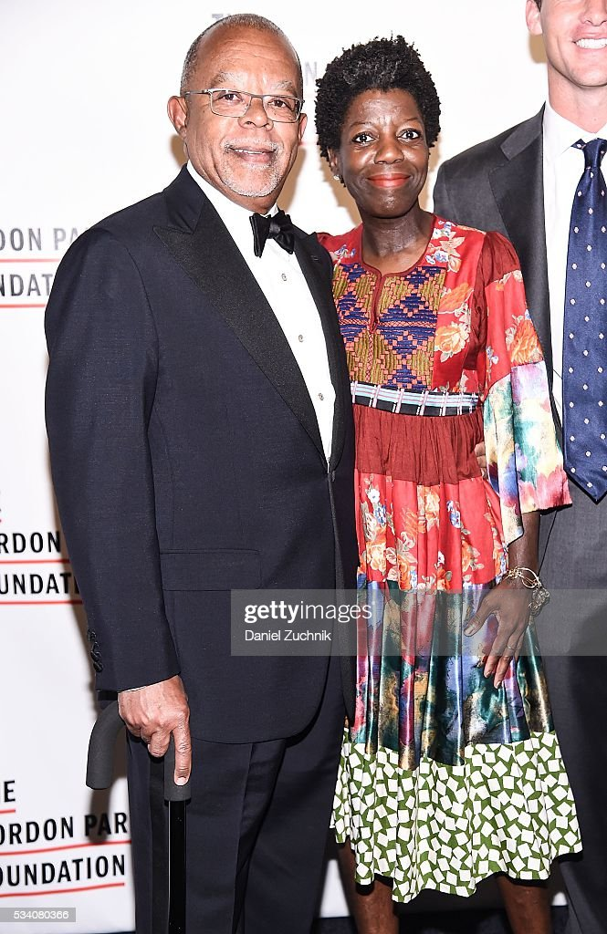 Henry Louis Gates Jr and Thelma Golden attend the 2016 Gordon Parks Foundation Awards Dinner at Cipriani 42nd Street on May 24 2016 in New York City