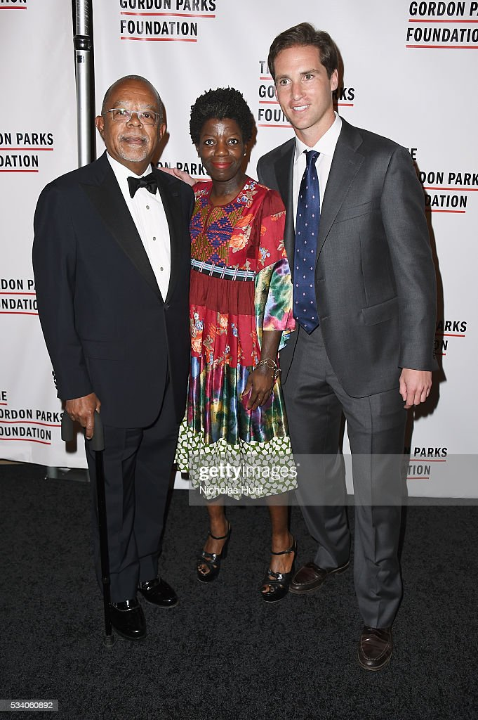 Henry Louis Gates, Jr., Thelma Golden and Peter Kunhardt Jr. attend the 2016 Gordon Parks Foundation awards dinner at Cipriani 42nd Street on May 24, 2016 in New York City.
