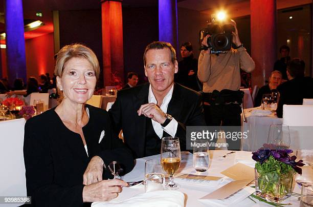 Henry Maske and Christiane Hoerbiger attend the 'ARD Advent Dinner' on December 4 2009 in Munich Germany