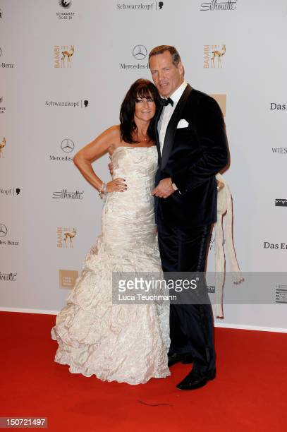 Henry Maske and Manuela Maske attend the Red Carpet for the Bambi Award 2011 ceremony at the RheinMainHallen on November 10 2011 in Wiesbaden Germany