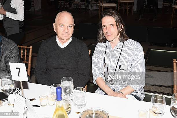 Henry McGroggan and Jeremy Deller attend as Brooklyn Museum celebrates Marilyn Minter and Iggy Pop at Opening Night Event at Brooklyn Museum on...