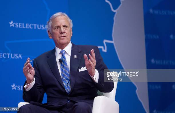 Henry McMaster governor of South Carolina speaks during the SelectUSA Investment Summit in Oxon Hill Maryland US on Monday June 19 2017 The SelectUSA...