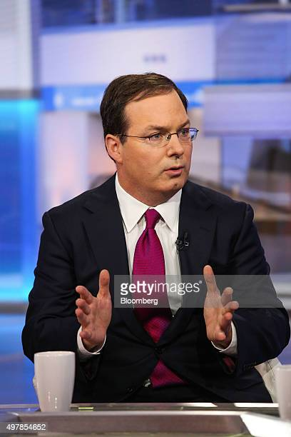 Henry McVey global head of macro and asset allocation at KKR Co speaks during a Bloomberg Television interview in New York US on Thursday Nov 19 2015...