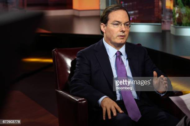 Henry McVey head of macro and asset allocation and chief investment officer of balance sheet at Kohlberg Kravis Roberts Co speaks during a Bloomberg...