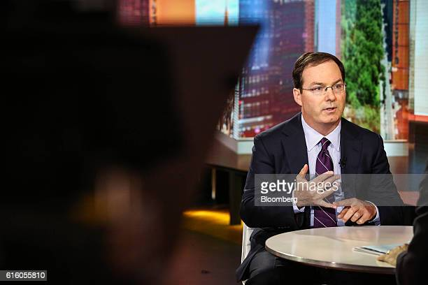 Henry Mcvey head of macro and asset allocation for Kohlberg Kravis Roberts Co speaks during a Bloomberg Television interview in New York US on Friday...