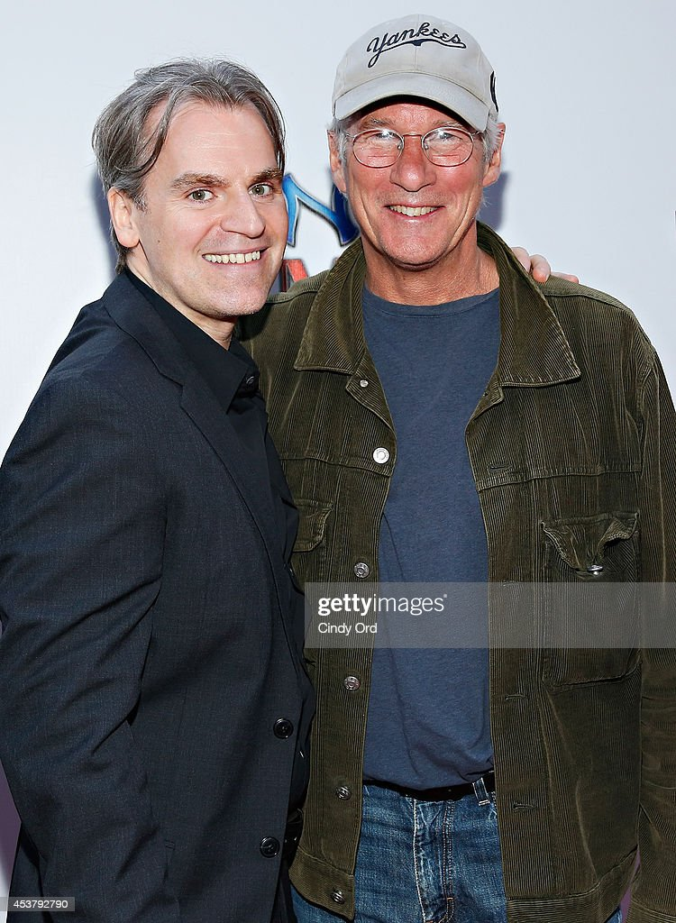 'Henry & Me' director Barrett Esposito and actor <a gi-track='captionPersonalityLinkClicked' href=/galleries/search?phrase=Richard+Gere&family=editorial&specificpeople=202110 ng-click='$event.stopPropagation()'>Richard Gere</a> attends the 'Henry & Me' New York Premiere at Ziegfeld Theatre on August 18, 2014 in New York City.