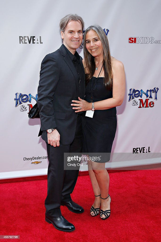 'Henry & Me' director Barrett Esposito and wife attend the 'Henry & Me' New York Premiere at Ziegfeld Theatre on August 18, 2014 in New York City.