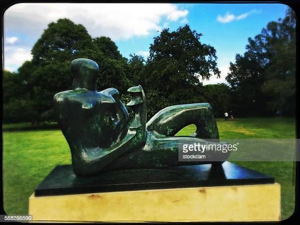Henry Moore sculpture 'Reclining Mother and Child', Kew Gardens, UK