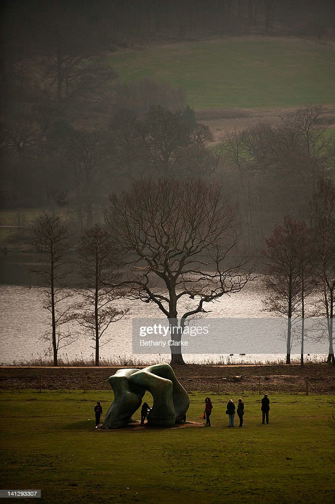 Henry Moore's perminant work at Yorkshire Sculpture park on March 14 2012 in Wakefield England