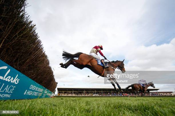 Henry Morshead riding Orbasa clear the last to win The Wessex Waste Disposal Handicap Steeple Chase at Wincanton racecourse on October 20 2017 in...