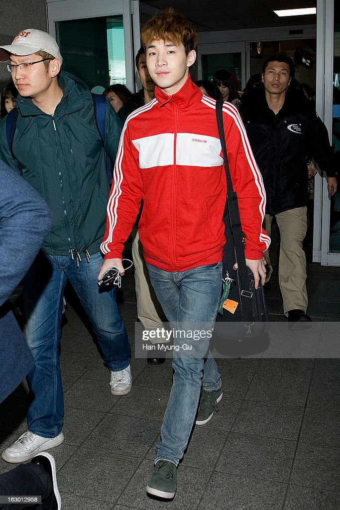 Henry of South Korean boy band Super Junior M is seen upon arrival from China at Incheon International Airport on March 3, 2013 in Incheon, South Korea.