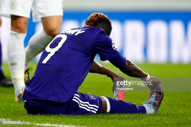 Henry Onyekuru forward of RSC Anderlecht during the Champions League Group B match between RSC Anderlecht and Celtic FC on September 27 2017 in...