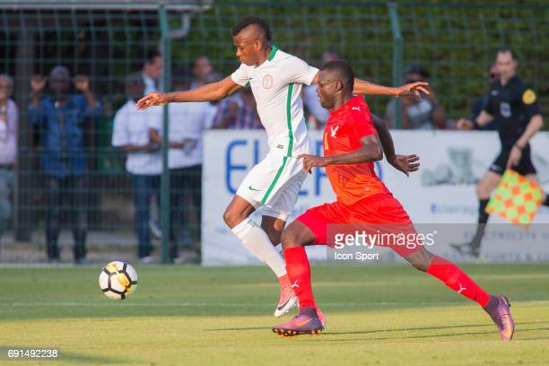 Henry Onyekuru of Nigeria during the soccer friendly match between Nigeria and Togo on June 1 2017 in St LeulaForet France