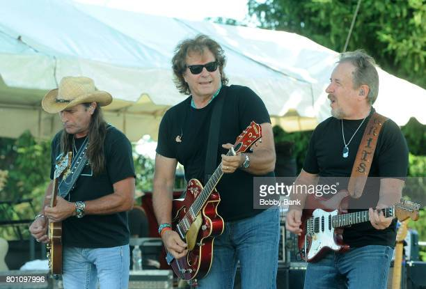 Henry Paul Chris Anderson and Steve Grisham of The Outlaws performs at the 8th Annual Rock Ribs Ridges Festival at Sussex County Fairgrounds on June...