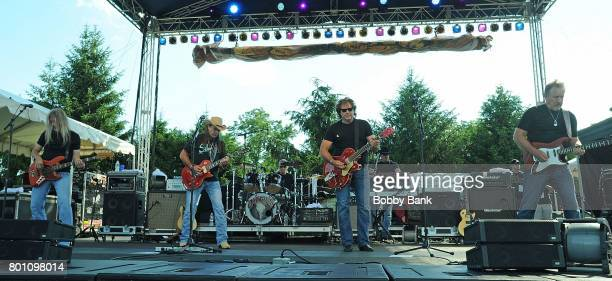 Henry Paul Chris Anderson Monte Yoho Randy Threet Dave Robbins and Steve Grisham of The Outlaws performs at the 8th Annual Rock Ribs Ridges Festival...