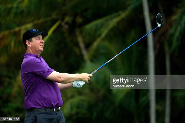 J Henry plays his tee shot on the 12th hole during the second round of the Puerto Rico Open at Coco Beach on March 24 2017 in Rio Grande Puerto Rico