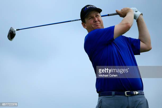J Henry plays his tee shot on the ninth hole during the third round of the Puerto Rico Open at Coco Beach on March 25 2017 in Rio Grande Puerto Rico
