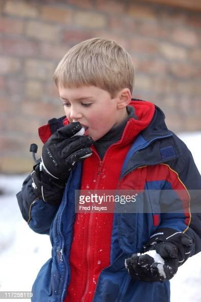 Henry Porter enjoys the fresh snowfall during the Sundance Film ...