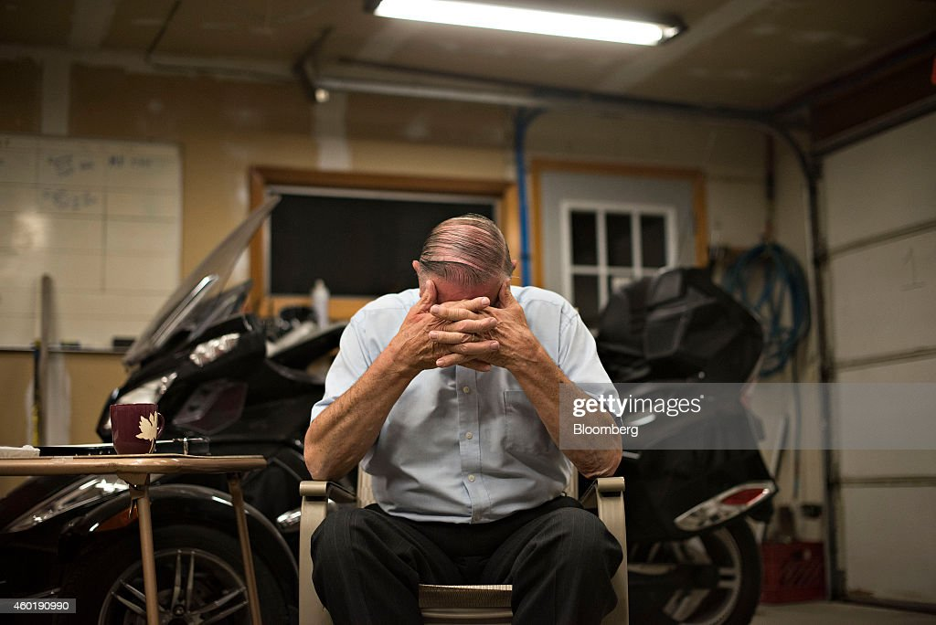 Henry Rayhons an Iowa state legislator pauses during an interview in Garner Iowa US on Wednesday Oct 8 2014 Rayhons is awaiting trial on a felony...