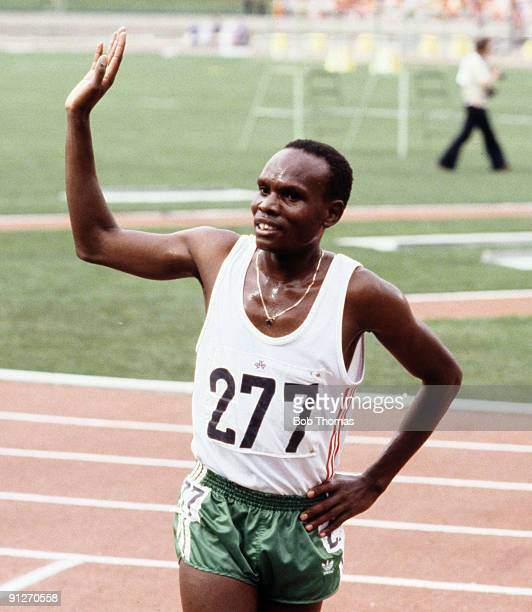 Henry Rono of Kenya gold medallist in the men's 5000m at the Commonwealth Games held in Edmonton Alberta Canada August 1978