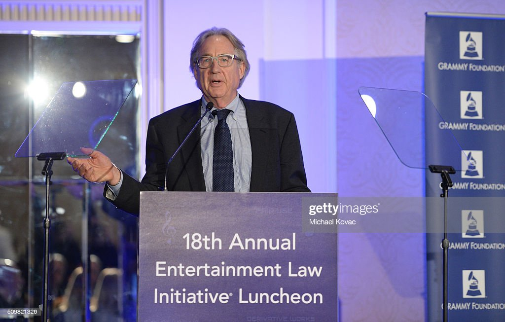 Henry Root, Chair of ELI Executive Committee, speaks onstage at the The 58th GRAMMY Awards Entertainment Law Initiative at Fairmont Miramar Hotel on February 12, 2016 in Santa Monica, California.