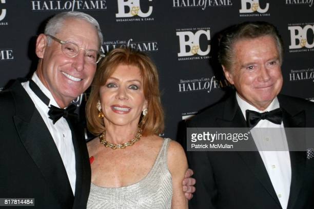 Henry Schleiff Joy Philbin and Regis Philbin attend 20th Annual BROADCASTING and CABLE HALL OF FAME Gala at Waldorf Astoria on October 27 2010 in New...