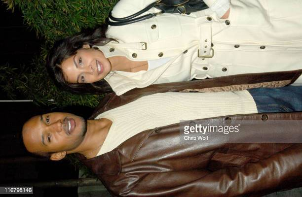 Henry Simmons and guest during Celebrity Sightings at Koi February 15 2007 at Koi in West Hollywood California United States