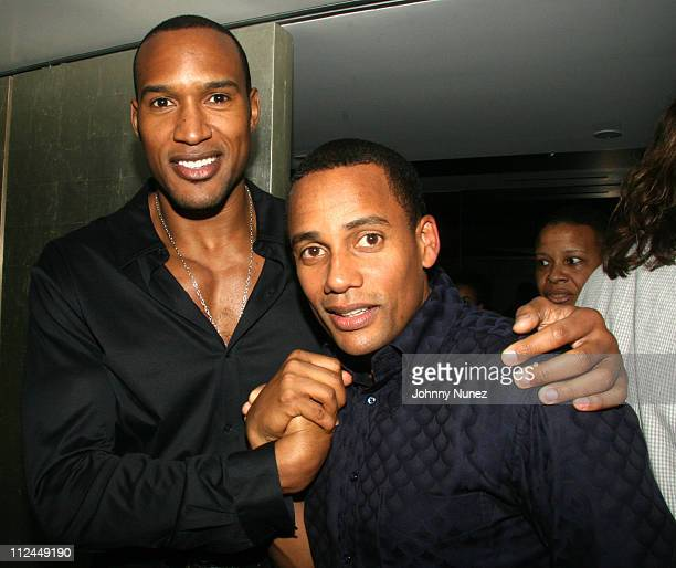 Henry Simmons and Hill Harper during Hill Harper 'Letter's to a Young Brother' Educational Tour Launch Hosted by Abercrombie and Fitch at TBD in New...