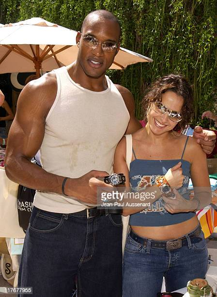 Henry Simmons and Jacqueline Obradors at Red Monkey Designs Photo by JeanPaul Aussenard/WireImage for Silver Spoon