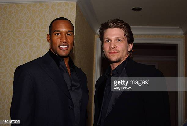 Henry Simmons and Marc Blucas during Mercedes Benz Oscar Viewing Party at Four Seasons Hotel in Beverly Hills California United States