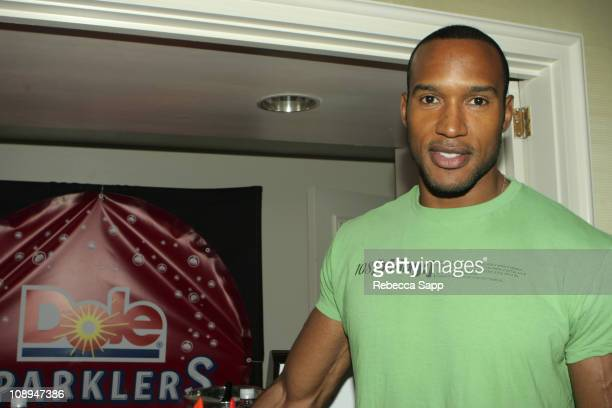 Henry Simmons at Dole Sparklers during HBO Luxury Lounge Day 1 at Peninsula Hotel in Beverly Hills California United States