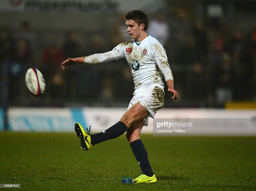Henry Slade of England in action during the International match between England U20 and Italy U20 at Franklin's Gardens on March 8, 2013 in Northampton, England.