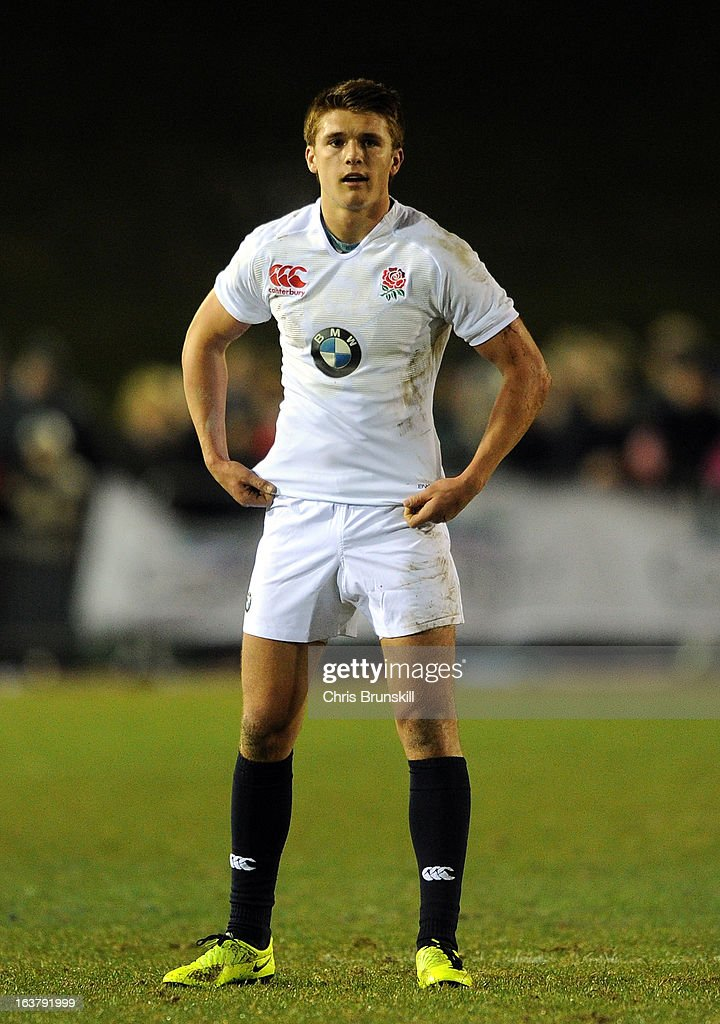 Henry Slade of England U20 looks on during the match between Wales U20 and England U20 at Eirias Park on March 15, 2013 in Colwyn Bay, Wales.