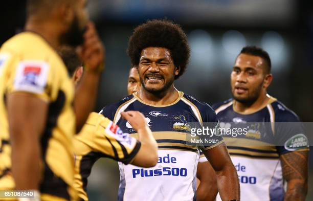 Henry Speight of the Brumbies is pictured after the round three Super Rugby match between the Brumbies and the Force at GIO Stadium on March 10 2017...