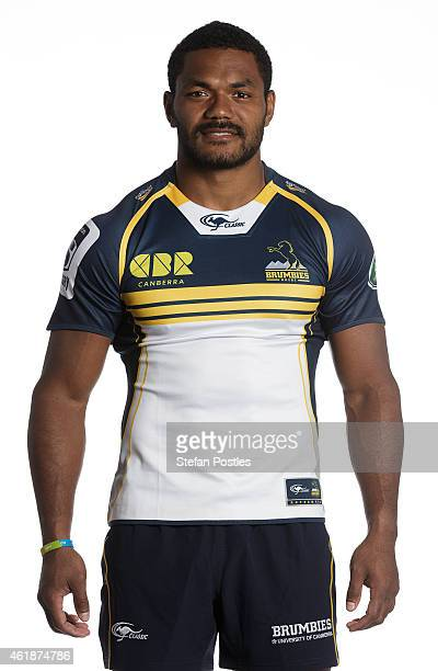 Henry Speight poses during the ACT Brumbies Super Rugby headshots session on January 21 2015 in Canberra Australia