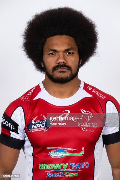 Henry Speight poses during the University of Canberra Vikings NRC headshots session at Brumbies HQ on August 19 2014 in Canberra Australia