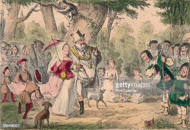 Henry the 8th and his Queen out a Maying 1850 A satirical illustration showing Henry VIII and his Queen celebrating May Day May Day is celebrated on...
