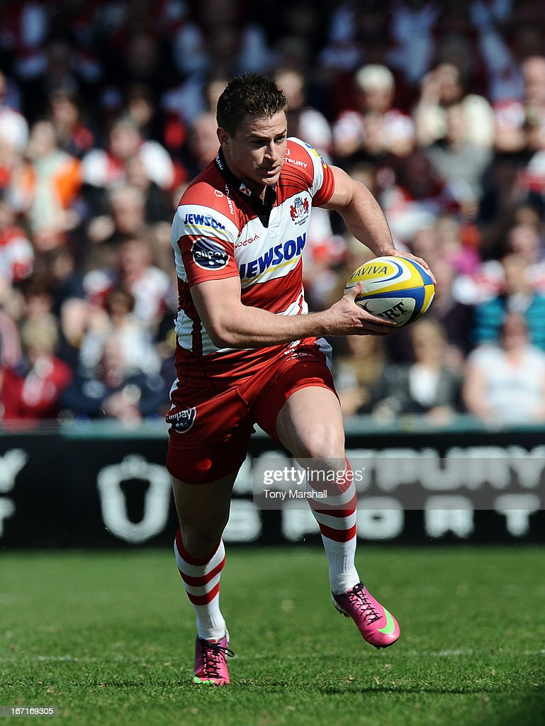 Henry Trinder of Gloucester during the Aviva Premiership match between Gloucester and Saracens at Kingsholm Stadium on April 20, 2013 in Gloucester, England.