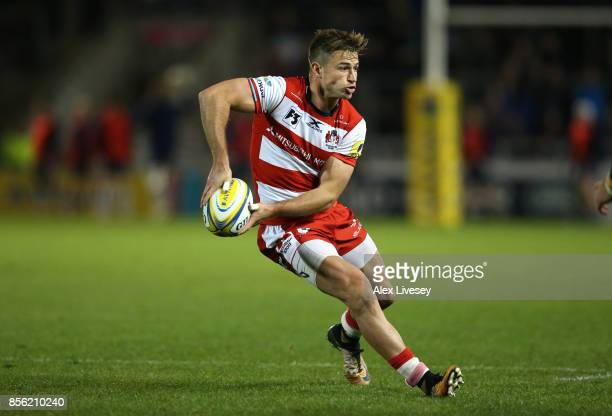 Henry Trinder of Gloucester Rugby during the Aviva Premiership match between Sale Sharks and Gloucester Rugby at AJ Bell Stadium on September 29 2017...