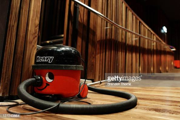 A 'Henry' vacuum cleaner is seen in the main auditorium during the first viewing of the interior at the new Marlowe Theatre on September 27 2011 in...